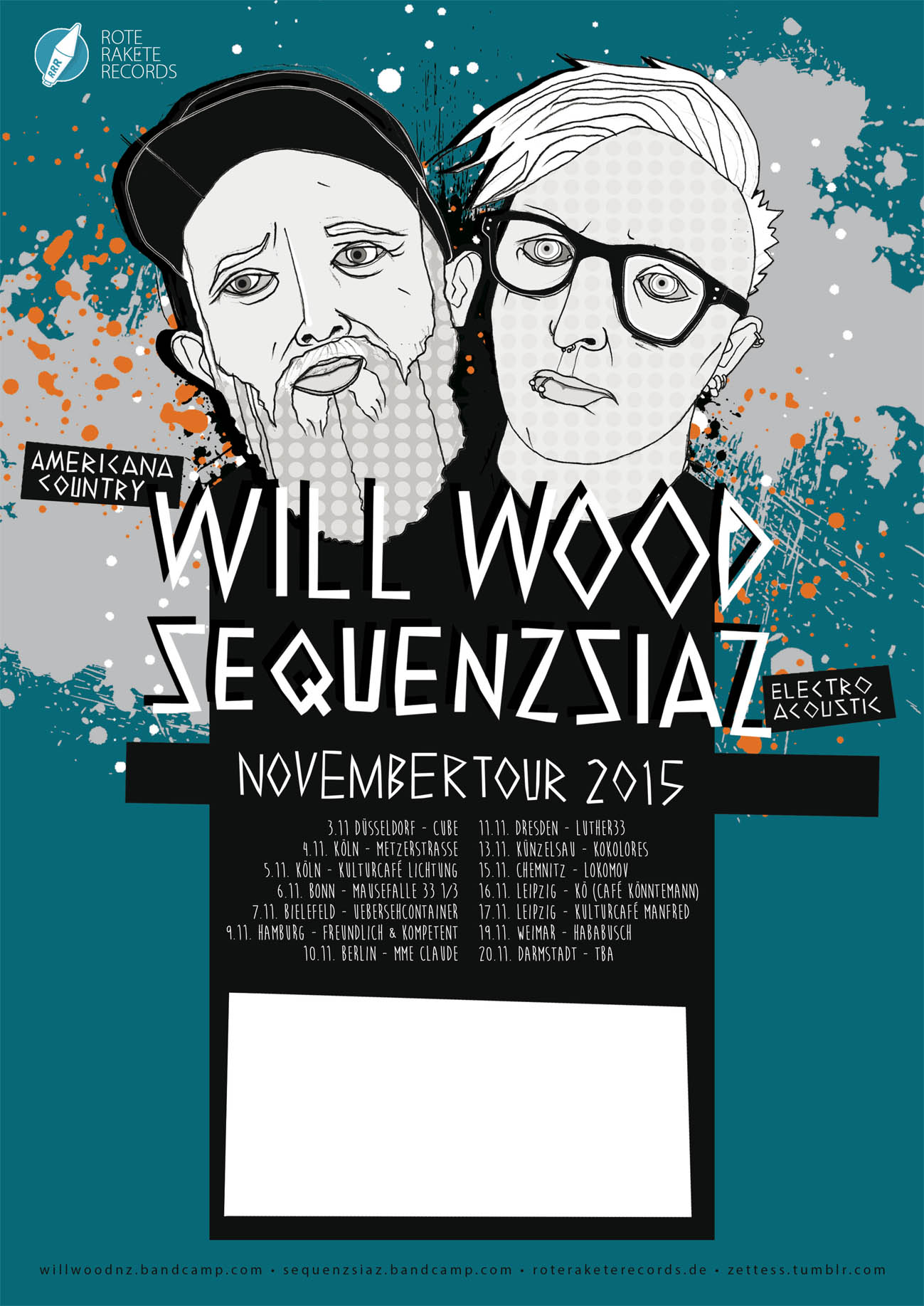 Tourplakat Will Wood